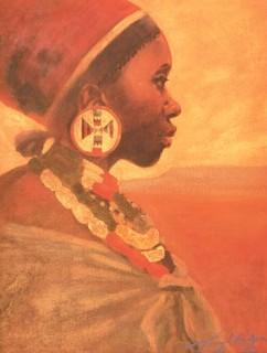 Zulu Woman print by Tony Hudson