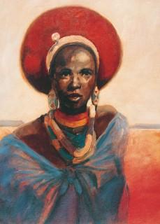 Zulu Girl print by Tony Hudson