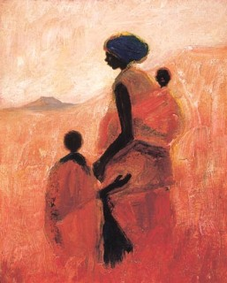 Mother and Children print by Tony Hudson