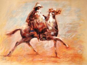 Bosotho Horseman print by Tony Hudson