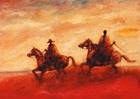 Sunset Ride print by Tony Hudson