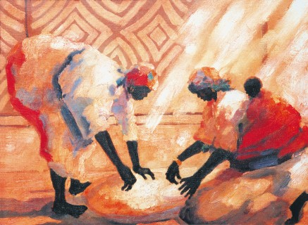 Making Mealie print by Tony Hudson