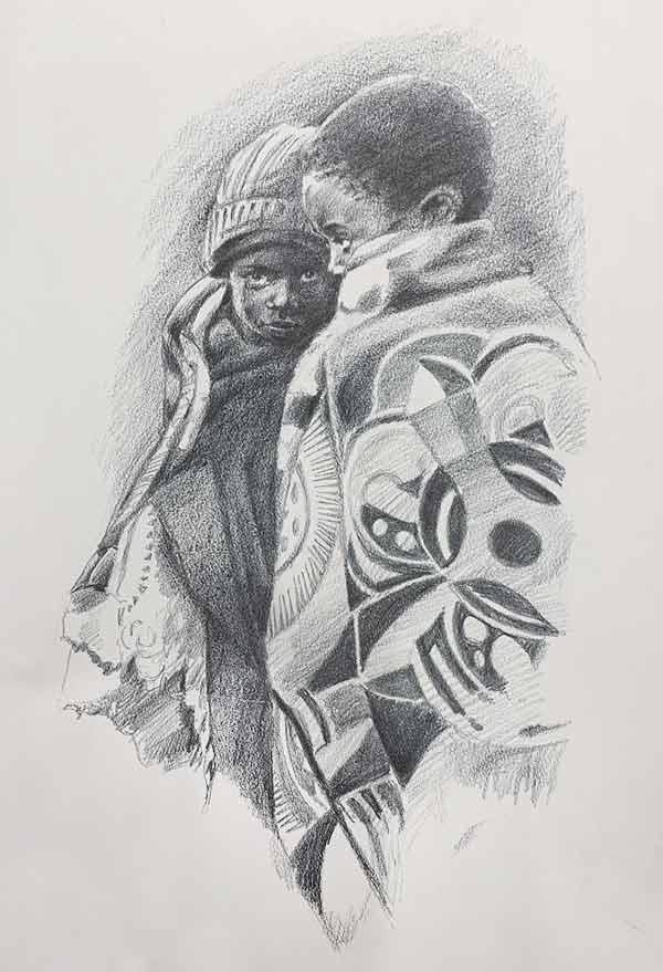 Bosotho Herdboys print by Tony Hudson