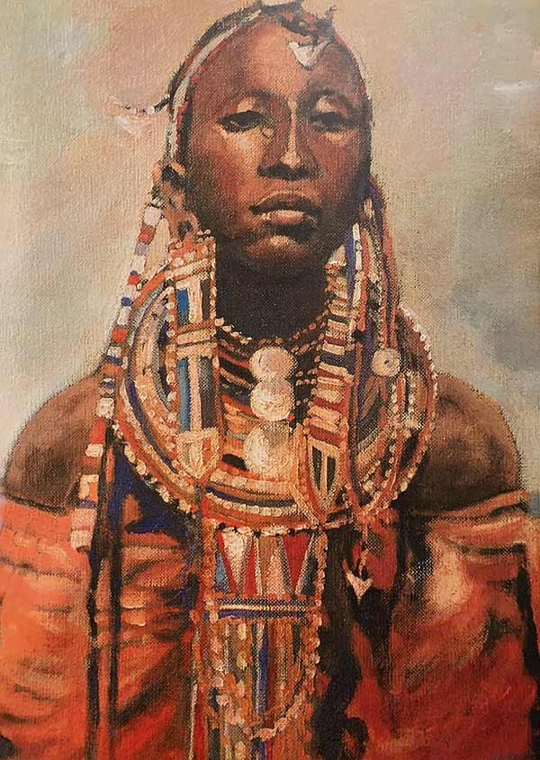 Masai Woman print by Tony Hudson