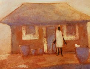 Sasotho House print by Tony Hudson