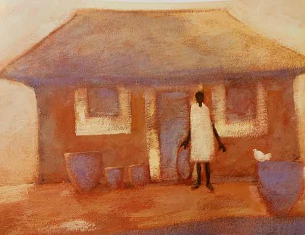 Sasotho House print by Tony Hudson